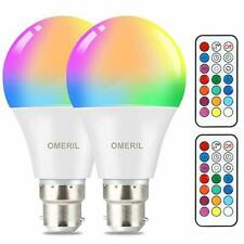 Colour Changing Bulb, OMERIL B22 10W RGBW LED Light Bulbs with Remote Control, D