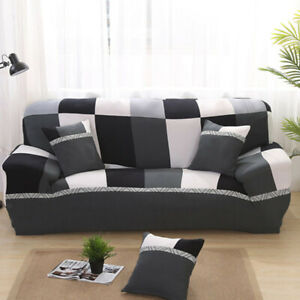 Stretch Sofa Cover Protector 190x230cm 3-Seat Couch Cover Slipcover Plaid