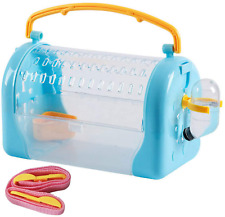 New listing Kathson Hamster Cage Travel Carrier Portable Cage with Water Bottle Outgoing Cag