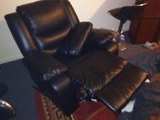 black leather recliner, rocker chair