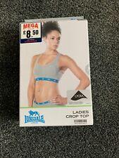 Lonsdale Ladies Crop Top Grey 34 B New Boxed