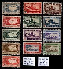 COTE D'IVOIRE : 2 Séries P. AÉRIENNE, Neufs * = Cote 15 € / TIMBRES COLONIES