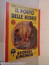 IL PORTO DELLE NEBBIE Georges Simenon Gialli Economici Mondadori 4 1933 romanzo