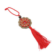 Wealth Chinese Knot Feng Shui Lucky Copper Coin Ropes Home Car Hanging Decor KV