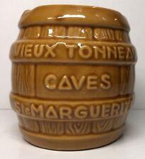 Cendrier Imitation Tonneau G. Fourmaintraux Desvres France H 10,5 D 10 Cm