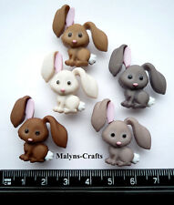 HOP HOP Craft Buttons 1ST CLASS POST Rabbit Animal Baby Garden Easter Food Bunny