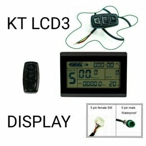 Ebike KT LCD3 Display Screen Meter Panel for KT Series Controllers 24/36/48V