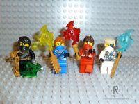 LEGO® Ninjago Figuren Cole Kai Jay Zane Battle damage Rebooted m. Waffen NEU N03