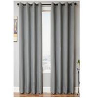 Softline Lorna Black Out One Grommet  Window Panel Solid Gray 55 x 96 Curtains