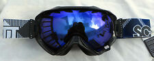 New $110 Scott Witness Black Womens winter Snow Ski Goggles Roxy Blue Ladies