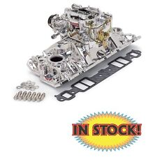 Edelbrock Single-Quad Carburetor and Manifold Kit - EnduraShine 20214