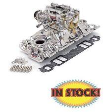 Edelbrock 20214 - 1955-86 SB Chevy Performer 1-Quad Manifold & Carb - Endura