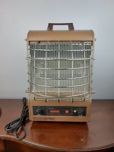 Vtg Markel Neo-Glo 198TE Electric Space Heater Made in USA Metal Art Deco Works