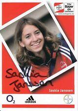 Saskia Janssen   Leichtathletik Autogrammkarte signiert 370052