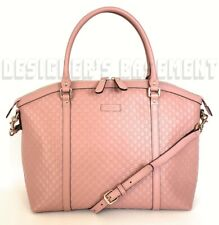 GUCCI pink MICRO GUCCISSIMA convertible LARGE DOME tote crossbody bag NWT Authen
