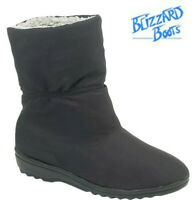 Ladies Blizzard Boots Ankle Black Porelle Waterproof Winter Warm Outdoor Shoes