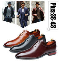 Men's Classic Casual Leather Shoes Oxfords Business Wedding Formal Dress Shoes