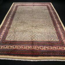 Orient Teppich Beige 322 x 218 cm Perserteppich Mir Muster Handgeknüpft Carpet