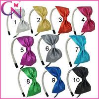 Boutique Glitter Hair Bow,Hair Accessories Friendly Hair Band Headband For Girls