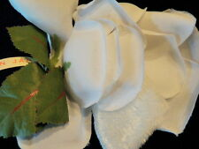 Vintage Millinery Flower White Fabric Hat Wedding Bridal Fascinator Hair T25