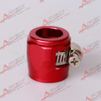 AN - 6 AN6 Red Fuel Hose Clamp Finisher HEX Finishers
