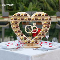 Wooden Heart Chocolate Dessert Display Holder Wedding Ferrero Rocher Stand Decor