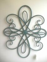 Rusty Turquoise Metal Wall Decor. Gorgeous Antique Look Home Accent
