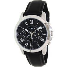 Fossil Men's Grant FS4812 Black Leather Quartz Fashion Watch