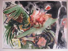 Aquarelle d' Edouard Pignon ( Picasso) signée dédicacée combat de coqs 1959 *
