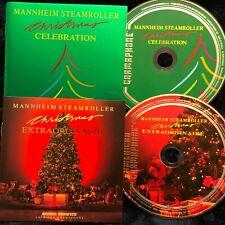 Holiday 2-CD lot: Mannheim Steamroller Christmas Celebration + Extraordinaire