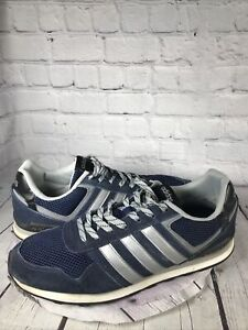 Adidas Mens 11 Running Shoes 10K Neo Label Collegiate Suede Navy AW3855