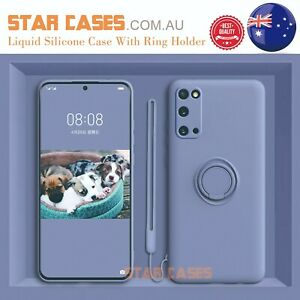 Samsung S21 S20 Ultra Plus S10e Note20 Shockproof Silicone Ring Soft Case Cover
