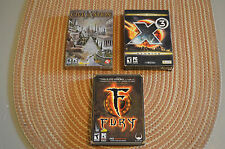 PC Game Lot - Fury    Civilization IV      X3 Reunion