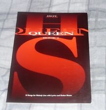 Queen 10 Songs For Melody Line With Lyrics and Guitar Boxes FREE POSTAGE