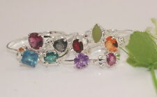 wholesale 10pcs Thick  silver mixed cz rings 6-9 Y-27