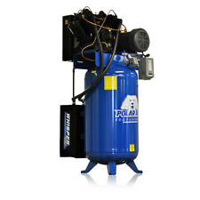 75hp Quiet Air Compressor Pressure Lubricated 2 Stage Single Phase V4 80 Gallon