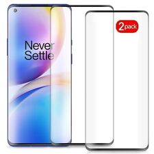 2  Pack For OnePlus 8 Pro / 5G Tempered Glass Screen Protector Full Coverage