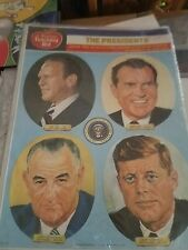 Dennison Teaching Aid 36 Presidents Color Prints Instruction vintage set sealed