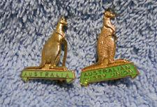 #D498. Two Australian Rugby Union Wallabies Lapel Badges