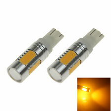 2x Yellow Auto T10 W5W Wedge Light Parking Bulb Lens High Power 5 COB SMD LED A0