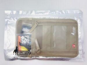 Alpha Keeper RFID Money Belt Travel Hip Pouch Bag Ripstop Adjustable Beige