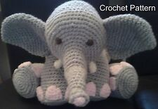 CROCHET PATTERN for Elephant Pillow Toy Cushion Amigurumi by Peach.Unicorn