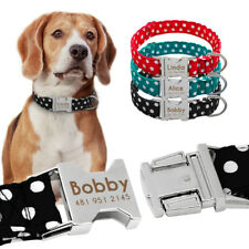 Custom Personalized Dog Collar Engraved With Name Adjustable Small Large Pitbull
