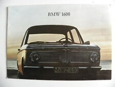Brochure / catalogue BMW 1600 de 03 / 1966 / 16 pages en français