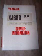 4U Supplement manuel atelier Service Information YAMAHA Moto XJ600 XJ 600