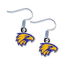 West Coast Eagles AFL Team Logo Earrings Surgical Steel Hook Jewellery