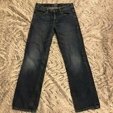 Old Navy Boys Straight Droit Blue Denim Jeans 12R Adjustable Waist
