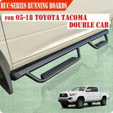 "Fit 05-18 TOYOTA Tacoma Double Cab 3"" Running Board Nerf Bar Side Step BLK BUC"