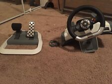 wired Microsoft Xbox 360 racing wheel controller w/ foot pedals