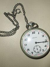 Molnija Pocket Watch – Open Face, Ural Design 18 jewels Skaz ob Urale USSR